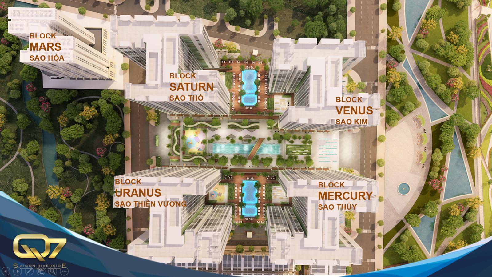 Mặt bằng dự án Q7 Riverside Hưng Thịnh