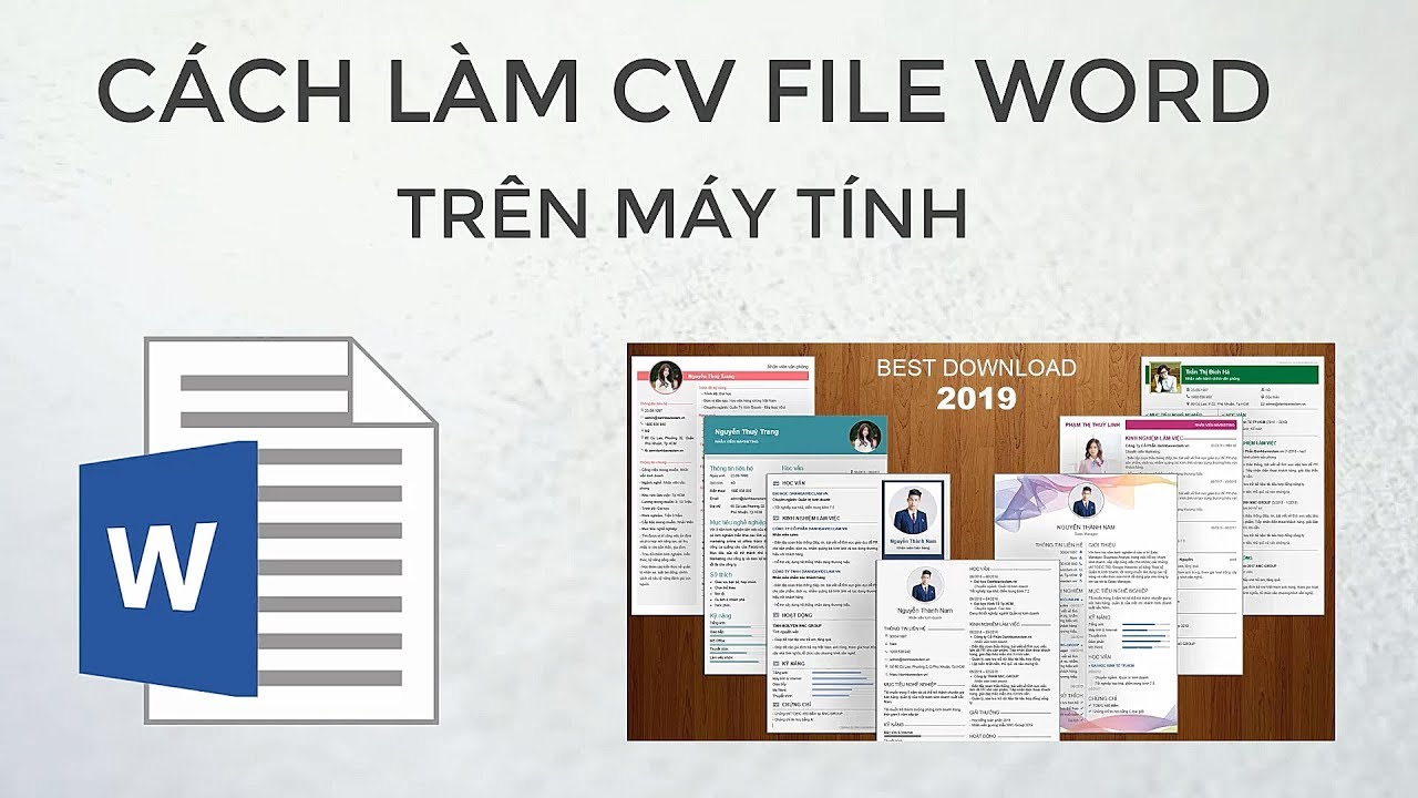 mẫu cv xin việc file word
