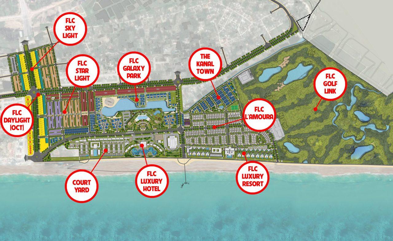 Bản đồ khu nghỉ dưỡng FLC Thanh Hóa