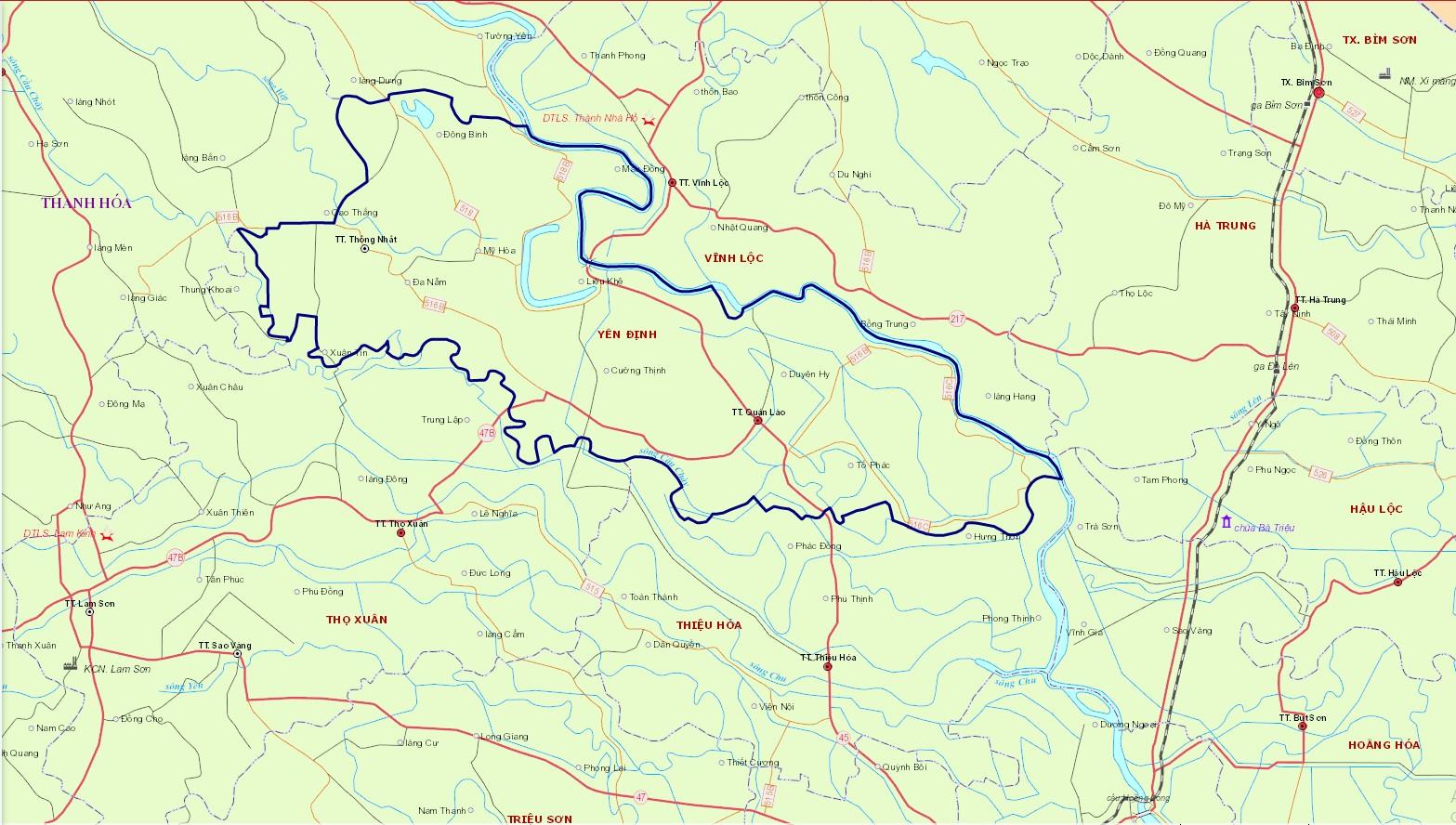 Bản đồ hành chính huyện Yên Định