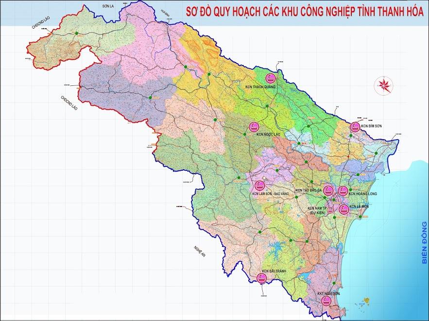 Sơ đồ quy hoạch khu công nghiệp tỉnh Thanh Hóa