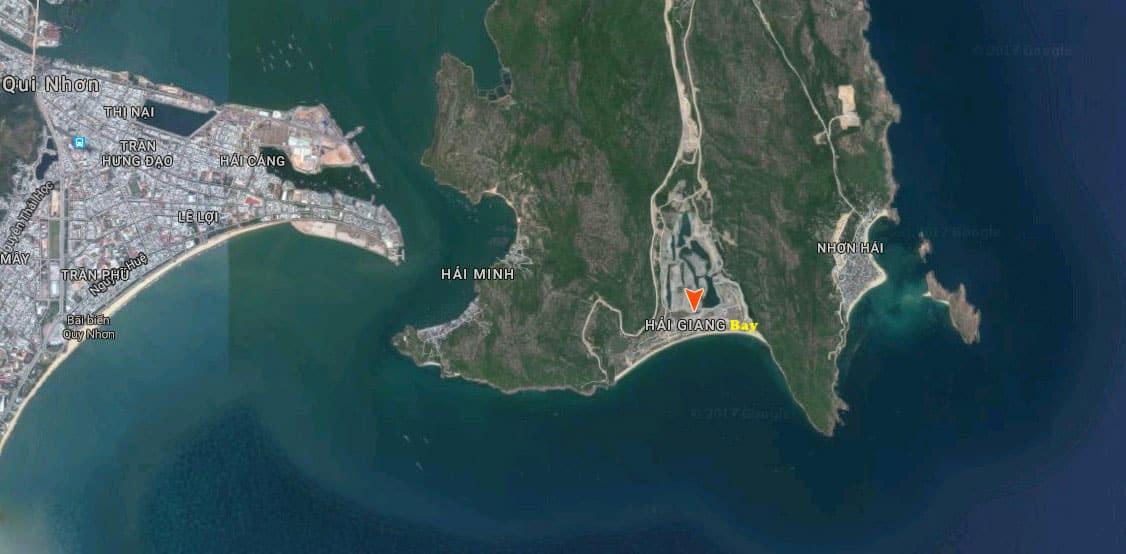 Vị trí căn hộ Hải Giang Merry Land